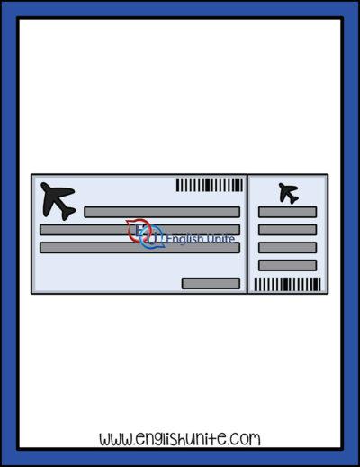 clip art - air ticket