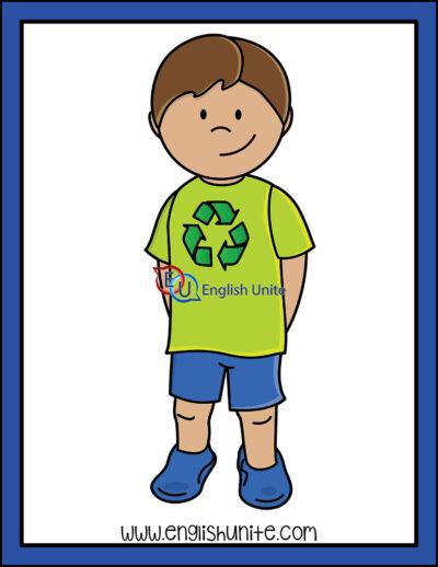 clip art - earth day boy