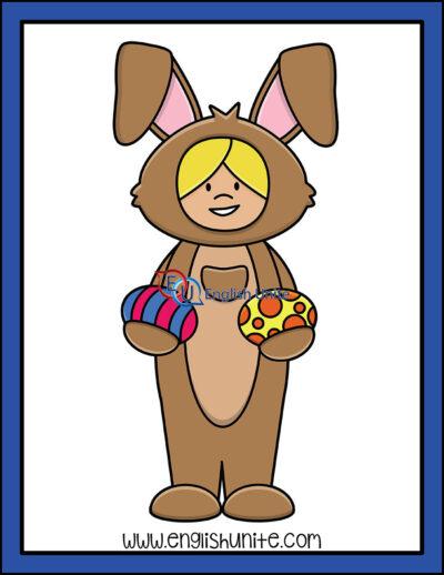 clip art - bunny costume