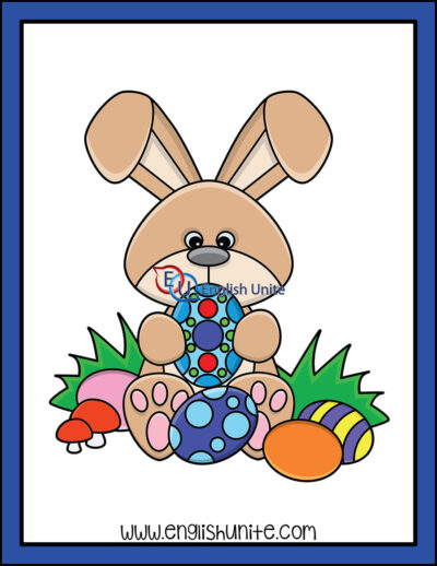 clip art - bunny with eggs