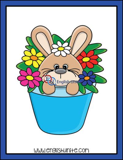clip art - bunny in flowers
