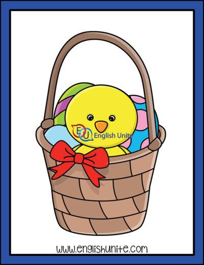 clip art - chicken in basket