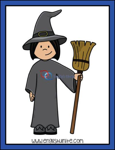 clip art - witch costume