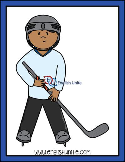 clip art - hockey player