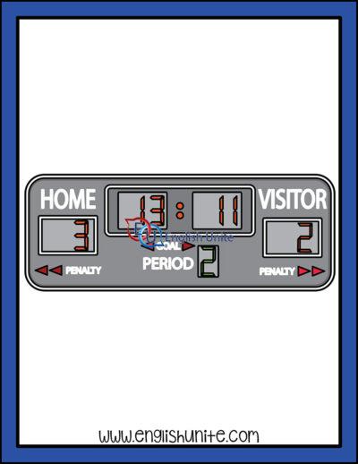 clip art - score board