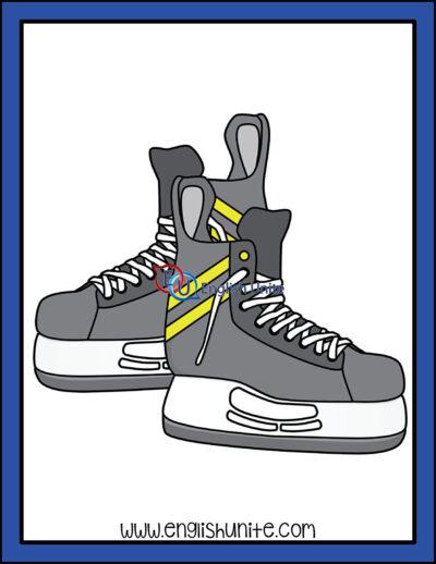 clip art - hockey skates