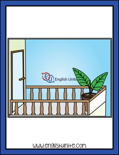 clip art - balcony