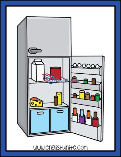 clip art - fridge