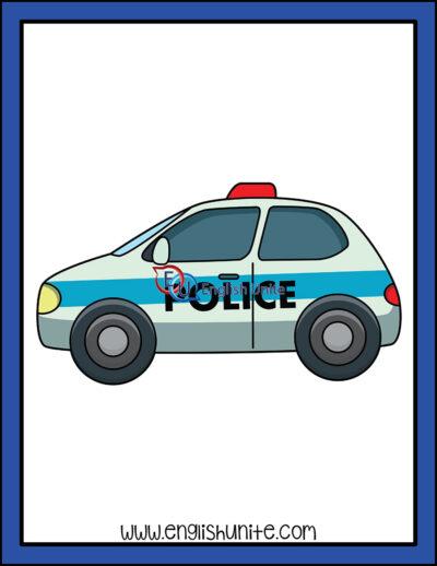 clip art - police car