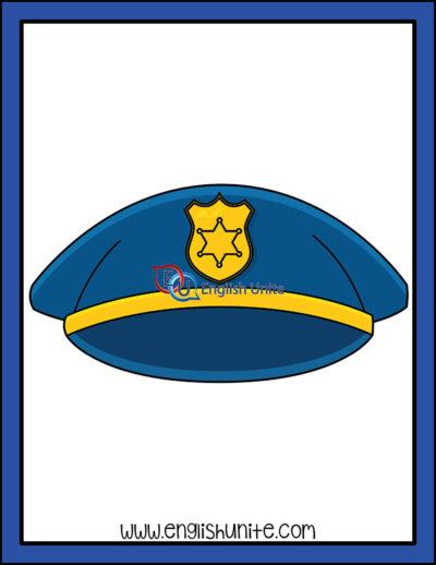clip art - police hat