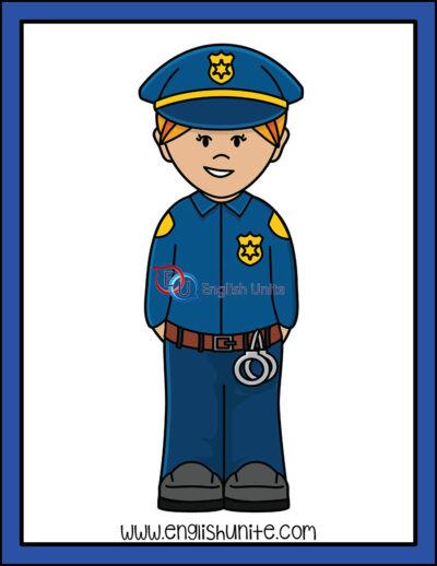 clip art - police officer