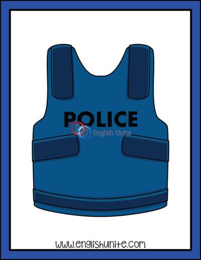 clip art - police vest