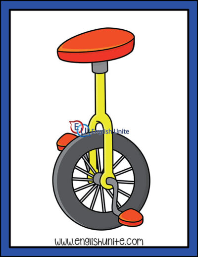 clip art - unicycle