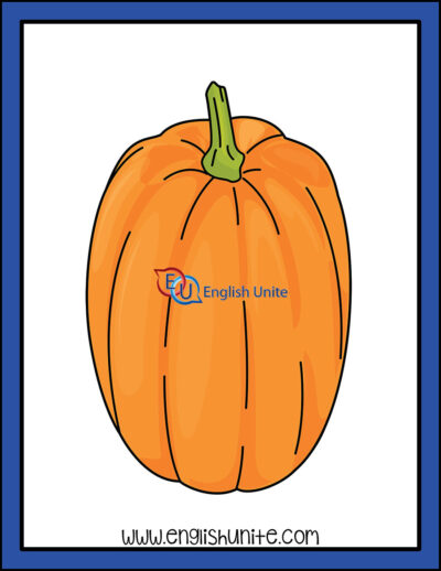 clip art - tall orange pumpkin