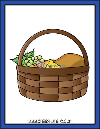 clip art - food basket
