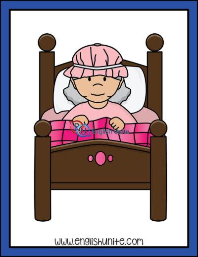 clip art - grandma in bed