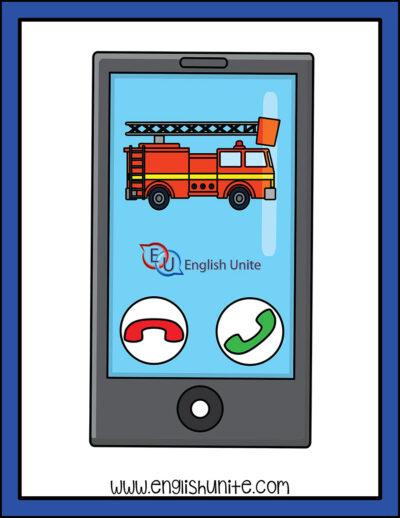 clip art - emergency call fire