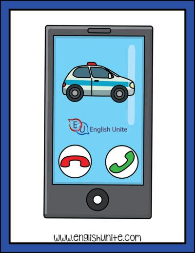 clip art - emergency call police