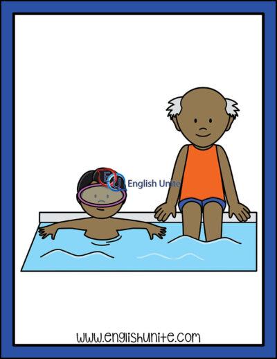 clip art - swim with supervision