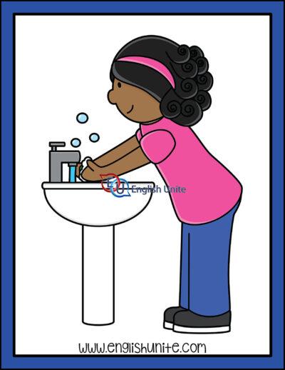 clip art - wash hands