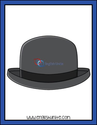 clip art - bowlers hat