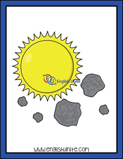 clip art - astroid and meteroid