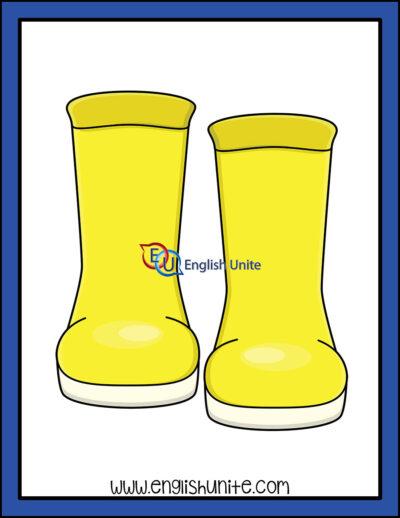 clip art - rain boots