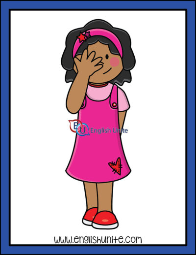 clip art - shy girl