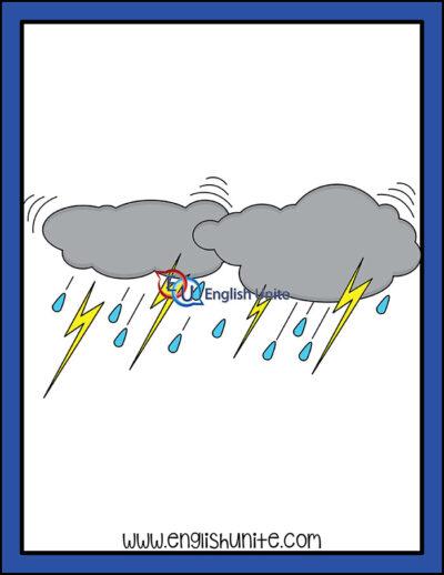 clip art - thunder storm