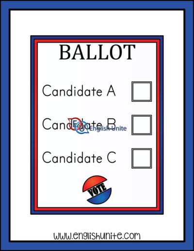 clip art - ballot