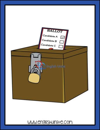clip art - ballot box