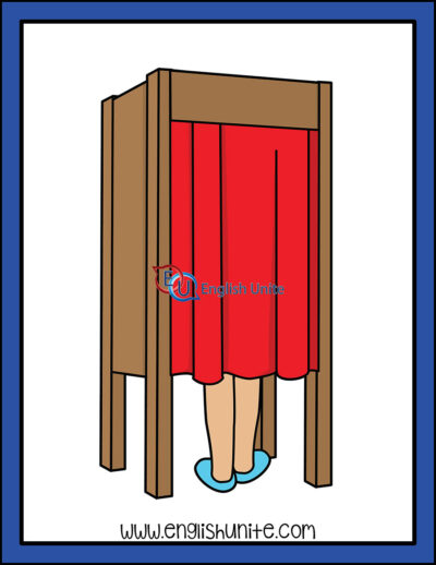 clip art - voting booth