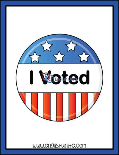 clip art - voting button
