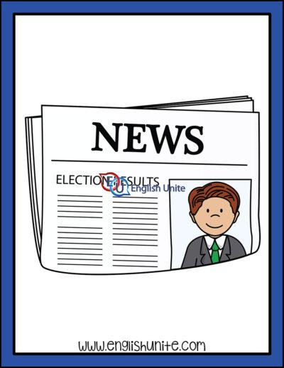 clip art - election newspaper