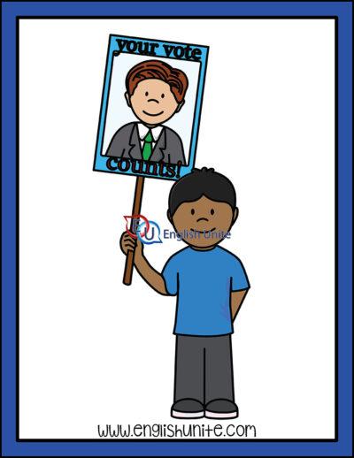 clip art - voting sign