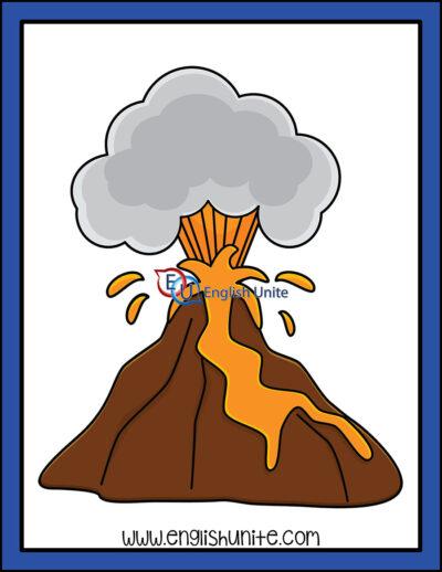 clip art - volcano