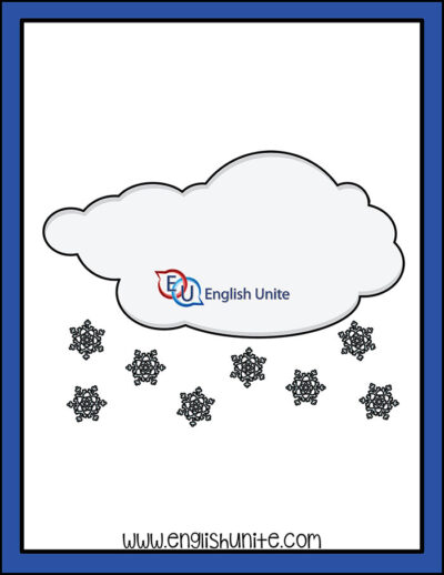 clip art - snowing