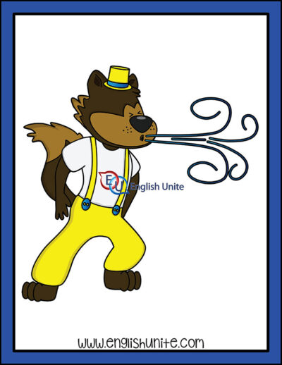 clip art - wold blowing out