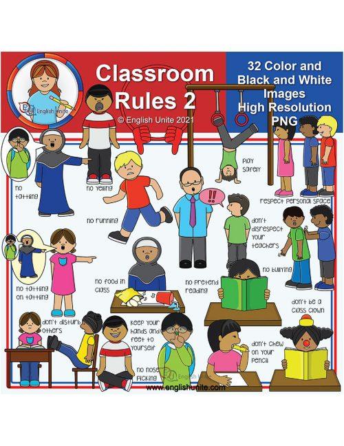 clip art - classroom rules 2