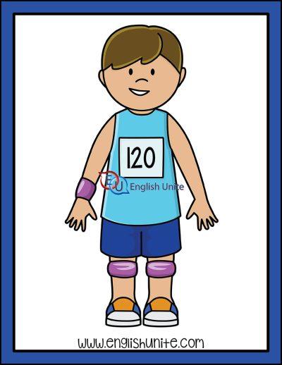 clip art - athlete boy