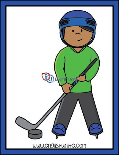 clip art - hockey boy