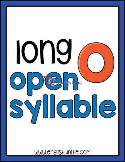 clip art - long o open syllable word art