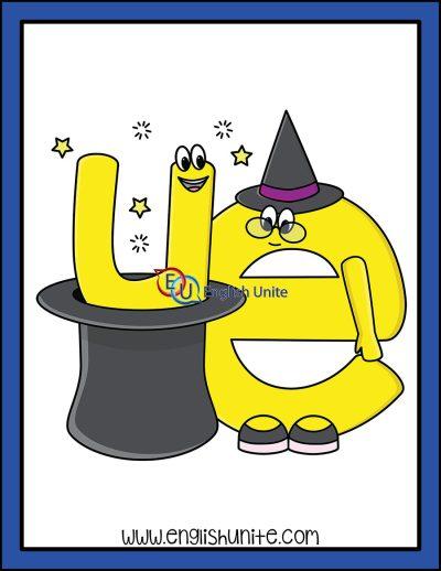 clip art - magic e character 8