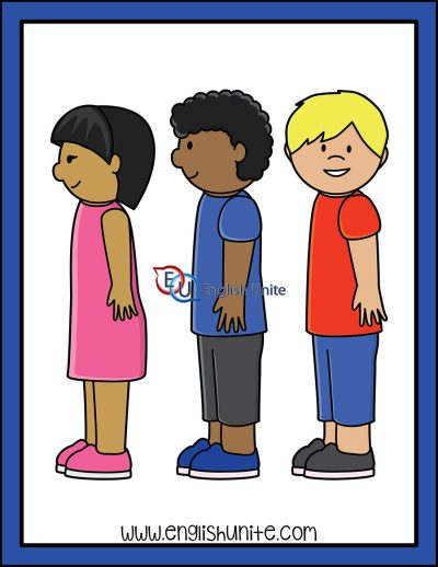 clip art - stand in a line