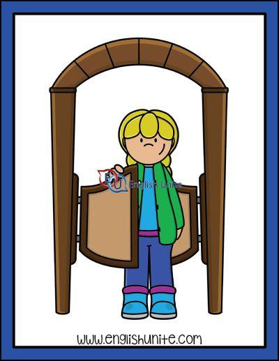 clip art - swinging door